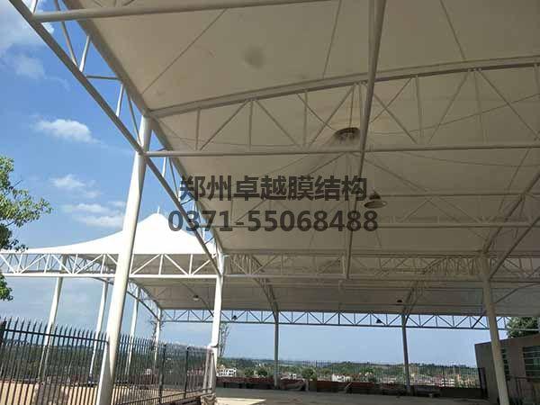邵阳市新邵县法治广场门球场膜结构罩棚/顶棚内部照