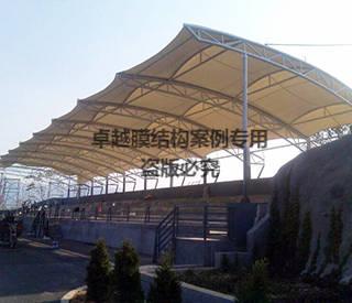 山东济南市历城区体育场看台膜结构