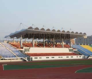 开封一高膜体育场看台膜结构