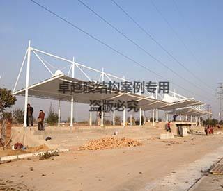 濮阳濮东新区中学操场膜结构看台