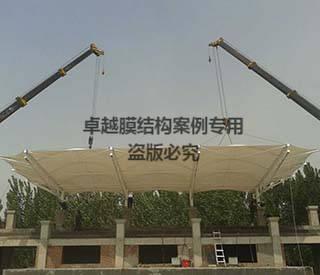 鹤壁市淇县中学操场看台膜结构