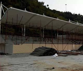 广西河池市体育场看台膜结构