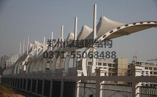 洛阳伊滨一高膜结构体育场看台