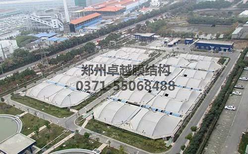 南京江宁污水处理厂污水池膜结构封闭工程