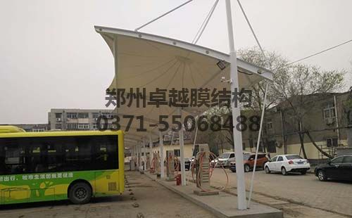 开封公交三公司膜结构充电桩