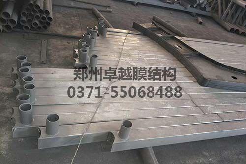 加工成型的膜结构车棚钢构件