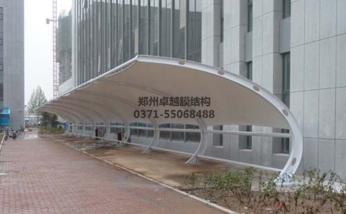 新乡长垣县行政服务中心膜结构车棚