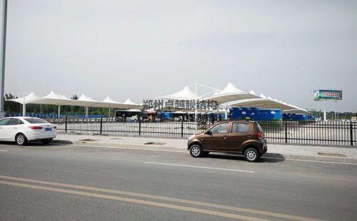 新乡高铁东站公交场膜结构车棚