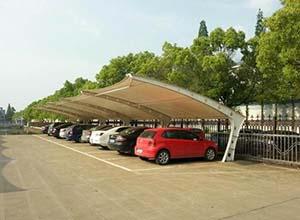 商丘膜结构车棚【厂家直销】商丘膜结构停车棚,张拉膜车棚