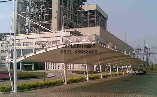 濮阳东站膜结构车棚
