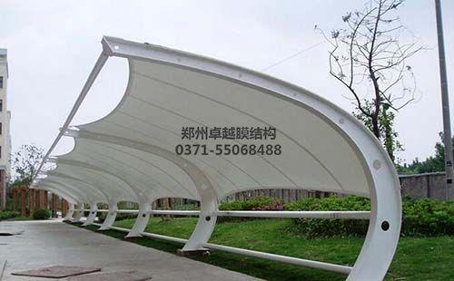 信阳百花置业膜结构车棚