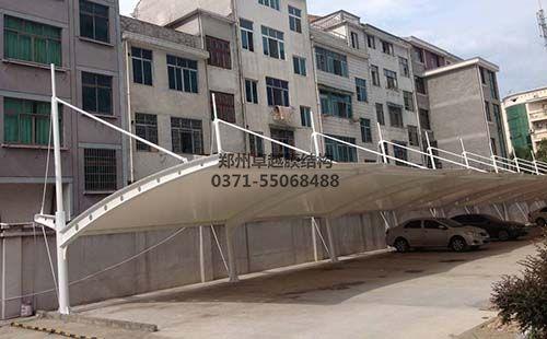 濮阳南乐县嘉悦小区膜结构车棚
