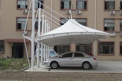 许昌龙生源公司膜结构车棚