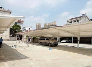 漯河膜结构车棚【厂家直销】漯河膜结构停车棚,张拉膜车棚