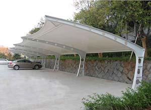 安阳膜结构车棚【厂家直销】安阳膜结构停车棚,张拉膜车棚