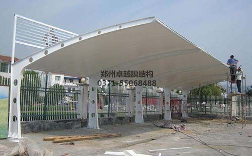 三门峡苍龙湾社区膜结构车棚