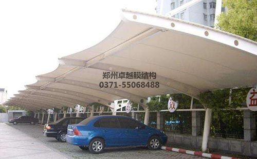 南阳唐河县国税局膜结构车棚