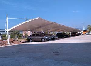 南阳膜结构车棚【厂家直销】南阳膜结构停车棚,张拉膜车棚