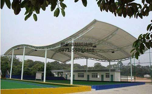 某学校网球场膜结构顶棚/雨棚/遮阳棚