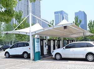运城膜结构车棚【厂家直销】运城膜结构停车棚,张拉膜车棚