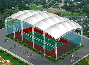 网球场膜结构顶棚/雨棚/遮阳棚有什么优点?