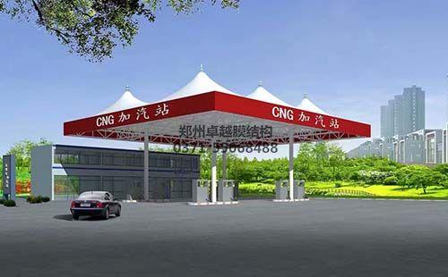 加油站膜结构顶棚/罩棚设计效果图