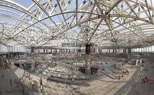 膜结构建筑桁架安装施工中