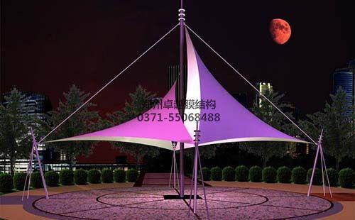 景观膜结构夜间效果图