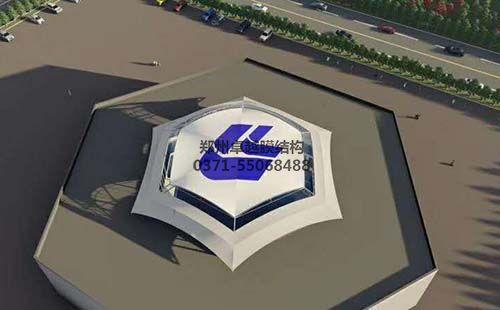 华兰生物屋顶膜结构设计效果图