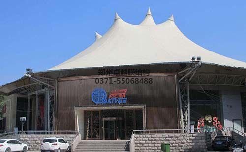某KTV使用了膜结构屋顶