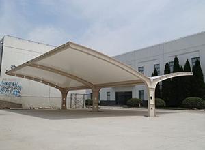 鹤壁膜结构车棚【鹤壁水务集团停车棚】等案例总结