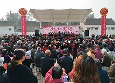 焦作武陟县嘉应观东水村膜结构舞台