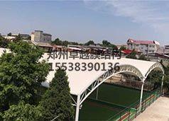 南阳社旗县老干部活动中心门球场膜结构罩棚