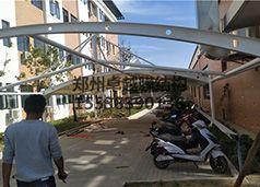 郑州双桥污水处理厂膜结构自行车棚
