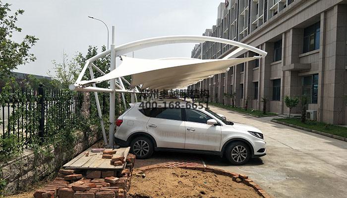 中牟宇通三厂膜结构汽车棚