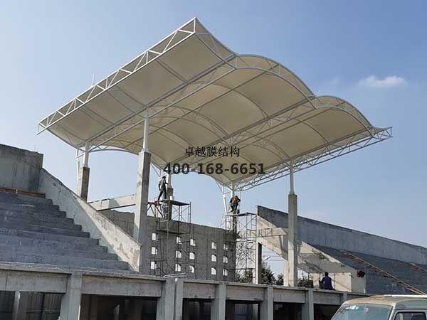 周口盛和小学膜结构看台/顶棚工程动态