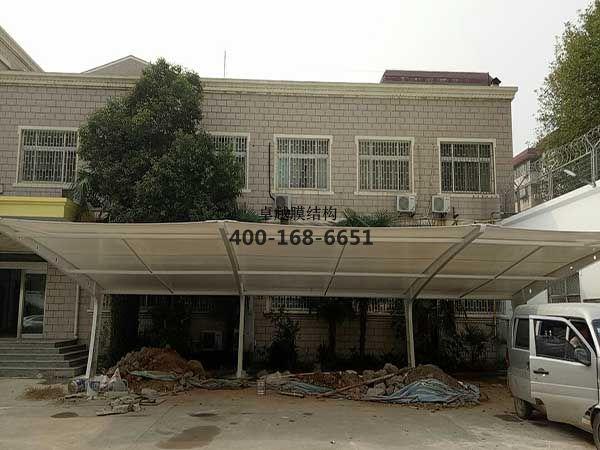 郑州市景明街看守所膜结构罩棚/车棚