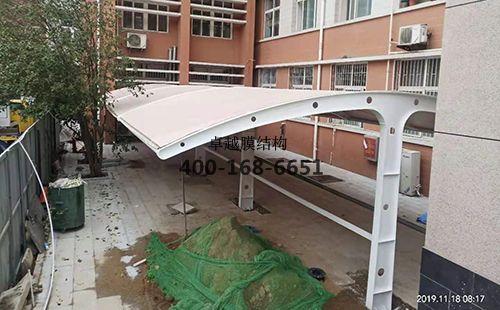 南阳市电力学院膜结构车棚/顶棚项目工程动态