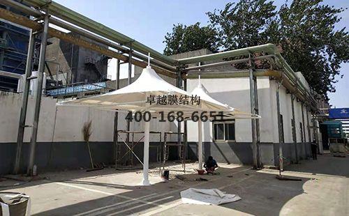焦作隆丰皮草膜结构凉亭/遮阳伞工程动态