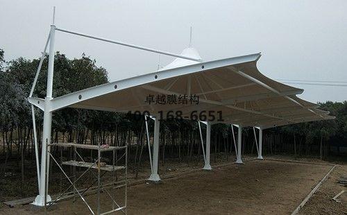 新乡力之星膜结构车棚/罩棚工程动态