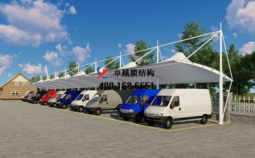 古交市膜结构车棚【厂家直销】古交膜结构停车棚,张拉膜车棚