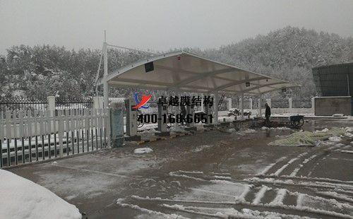 信阳罗山服务区膜结构车棚/顶棚工程动态