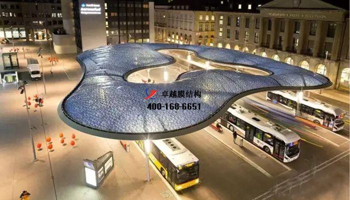 公交场站膜结构膜结构车棚/汽车站膜结构充电站/