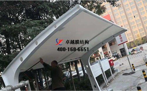 郑州商都路膜结构车棚/顶棚工程动态