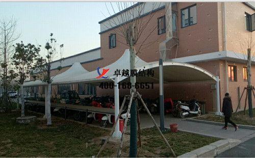 郑州双桥污水处理厂膜结构车棚/顶棚项目工程动态