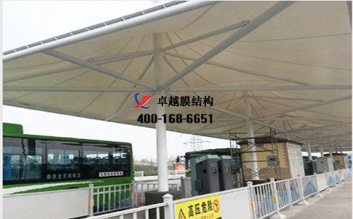 山西膜结构充电站桩停车棚/雨棚【新能源科技有限公司