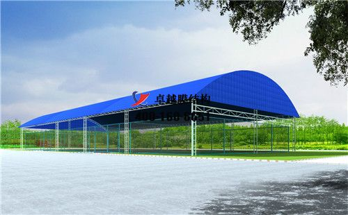 怀化膜结构门球场网球场篮球场(铁北体育中心-网球场)设计施工安装案例