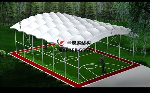 白银膜结构门球场网球场篮球场(铜城国家级体育俱乐部)设计施工安装案例