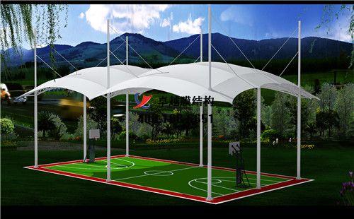 金昌膜结构门球场网球场篮球场(金昌市体育中心)设计施工安装案例