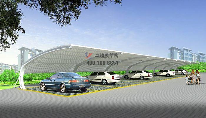 和田膜结构车棚【和田科技有限公司等】设计施工案例